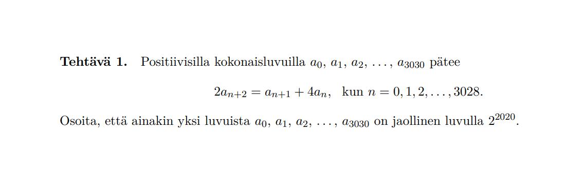 Matematiikan harrastaminen ja EGMO 2020 kahden kisaajan silmin