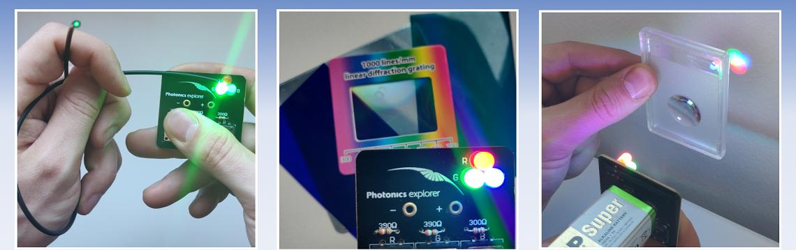 Photonics Explorer Kit: Valo-opin kokeellinen opetuspaketti yläkouluun, lukioon ja ammatilliseen koulutukseen